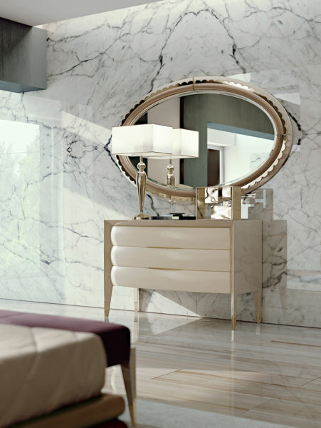 Chest and Oval Mirror ART T2151L - T2170L