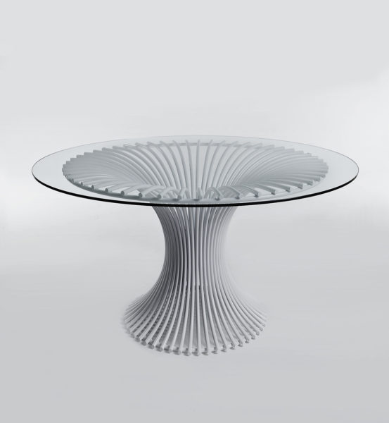 Table steel ART Calla
